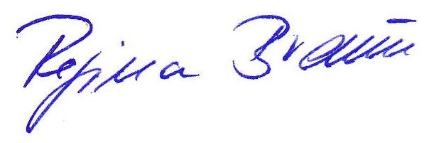 Unterschrift Regina Braun